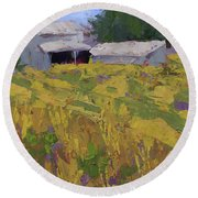 Field And Barns Round Beach Towel