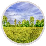 Round Beach Towel featuring the photograph Field Gaeddeholm Artistic. by Leif Sohlman