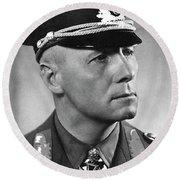 Field Marshall Erwin Rommel Portrait Circa 1940 Color Added 2016 Round Beach Towel