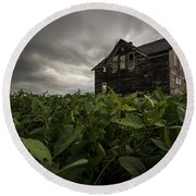 Round Beach Towel featuring the photograph Field Of Beans/dreams by Aaron J Groen
