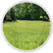Round Beach Towel featuring the photograph Field Of Dreams by Heidi Poulin
