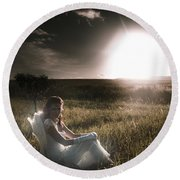 Round Beach Towel featuring the photograph Field Of Dreams by Jorgo Photography - Wall Art Gallery