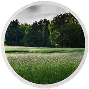 Field Of Green Round Beach Towel