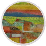 Field Of Screens Round Beach Towel