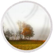 Field Of The Morn Round Beach Towel