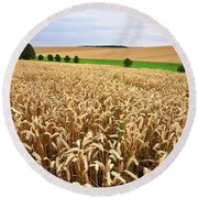 Field Of Wheat Round Beach Towel