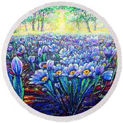 Field.flowers Round Beach Towel