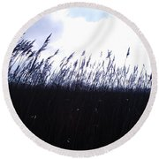 Round Beach Towel featuring the photograph Fields by Jenny Potter