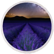 Fields Of Eden Round Beach Towel