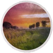 Fields Of Green Round Beach Towel