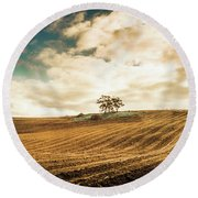 Fields Of Tasmanian Agriculture Round Beach Towel