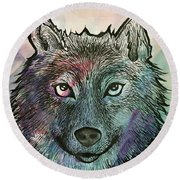 Fierce And Wise Round Beach Towel