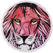 Fierce Protector 1 Round Beach Towel