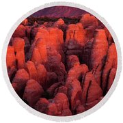 Round Beach Towel featuring the photograph Fiery Furnace by Dustin LeFevre