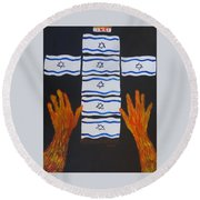Fiery Intercession For Israel Round Beach Towel