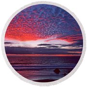 Fiesta In The Sky Round Beach Towel