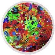 Fiesta Round Beach Towel by Jeanette French