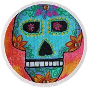 Fiesta Of Colors Round Beach Towel