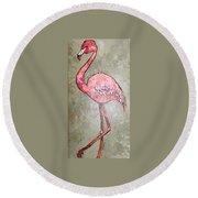 Fifi Flamingo Round Beach Towel