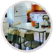 Fifties Kitchen Round Beach Towel