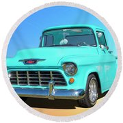 Fifty5 Stepside Pickup Round Beach Towel