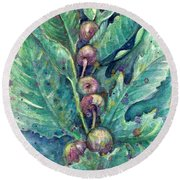 Figful Tree Round Beach Towel