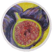 Figs  Round Beach Towel by Laurie Morgan