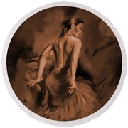 Round Beach Towel featuring the painting Figurative Art 007dc by Gull G