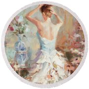 Figurative II Round Beach Towel
