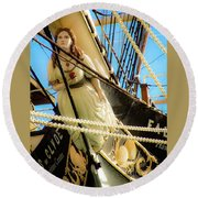 Figurehead - Falls Of Clyde Round Beach Towel