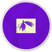 Round Beach Towel featuring the photograph Filigree by Elfriede Fulda