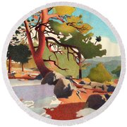Fillius Ridge Round Beach Towel