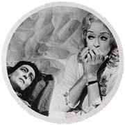 Film: Baby Jane, 1962 Round Beach Towel