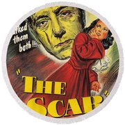 Film Noir Poster  The Scar Round Beach Towel