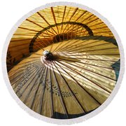 Filtered Light Round Beach Towel by Jan Amiss Photography