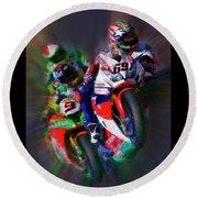 Fim Superbike Nicky Hayden Leads The Way Round Beach Towel