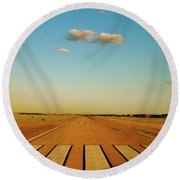 Round Beach Towel featuring the photograph Final Approach by Iconic Images Art Gallery David Pucciarelli