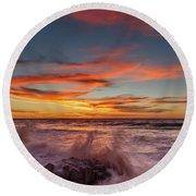 Final Sunset Of 2016 Round Beach Towel