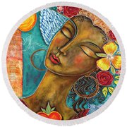 Finding Paradise Round Beach Towel by Shiloh Sophia McCloud