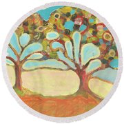 Finding Strength Together Round Beach Towel