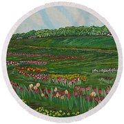 Finding The Way To You - Spring In Emmental Round Beach Towel