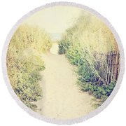 Round Beach Towel featuring the photograph Finding Your Way by Trish Mistric