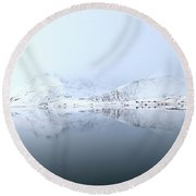 Fine Art Landscape 1 Round Beach Towel by Dubi Roman