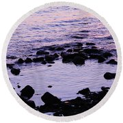 Round Beach Towel featuring the photograph Fine Art - Still Waters by Jenny Potter