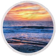 Fine End To The Day Round Beach Towel