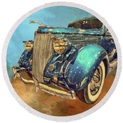 Fine Ride Round Beach Towel
