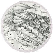 Finery Round Beach Towel