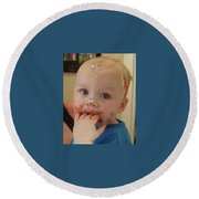 Finger Lickin Good Round Beach Towel