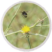 Finnon Bumble Bee Round Beach Towel