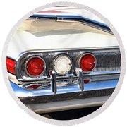 Fins Were In - 1960 Chevrolet Round Beach Towel